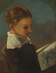 Julieta Courbet a la edad de diez años