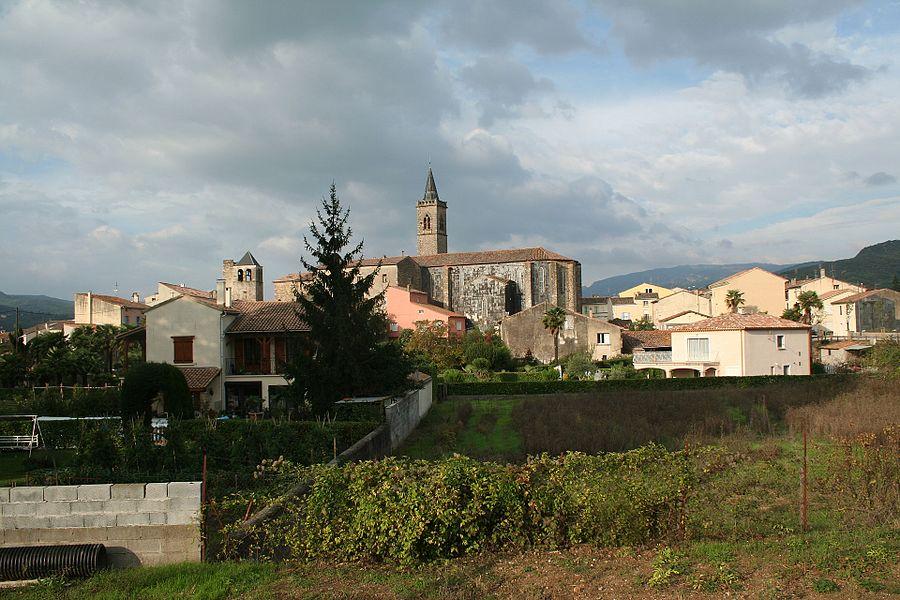 Hérépian (Hérault) - vue générale.