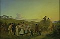 H.J. Hammer - Bønder vender hjem fra marken med det sidste læs korn - KMS496 - Statens Museum for Kunst.jpg