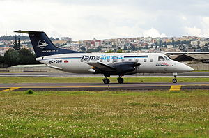 SAEREO - A SAEREO Embraer EMB-120, operating for TameExpress, taxiing at Old Mariscal Sucre International Airport (2008)