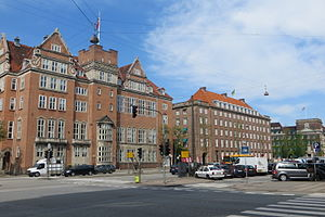H. C. Andersens Boulevard - The Studenterforeningen building (left)