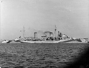 HMS Arethusa (26) - Image: HMS Arethusa 1942 IWM FL 889
