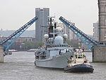 HMS Edinburgh Passes Under Tower Bridge, London MOD 45155420.jpg