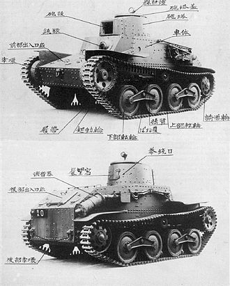 Tanks in the Japanese Army - Japanese Type 95 Ha-Go first prototype, 1934