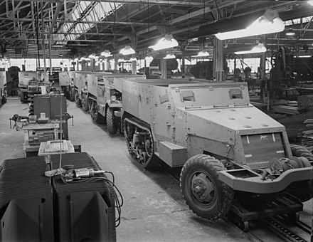 Production of half-track armored cars in a converted automobile plant. Diebold Safe and Lock Company, Canton, Ohio. Halftrack-production-3.jpg