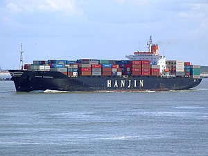 Hanjin Kaohsiung p2, leaving Port of Rotterdam, Holland 08-Jul-2007.jpg