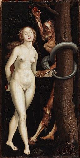 Hans Baldung Grien - Eve, Serpent and Death