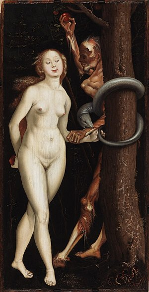 Eve, the Serpent and Death - Image: Hans Baldung Grien Eve, Serpent and Death