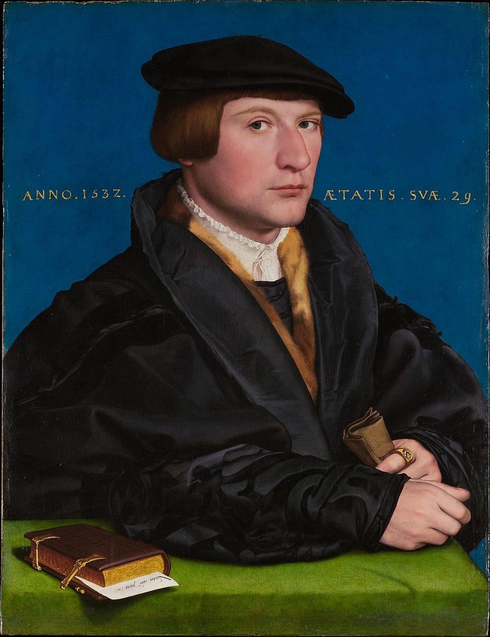 Hans Holbein d.J. - Porträt eines Mitgliedes der Familie Wedigh