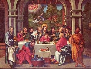Hans Leonhard Schäufelein - Abendmahl (The Eucharist), Hans Leonhard Schäufelein Abendmahl, 1515, Ulmer Münster.