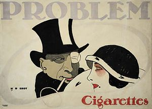 Hans Rudi Erdt: Problem Cigarettes, 1912 .