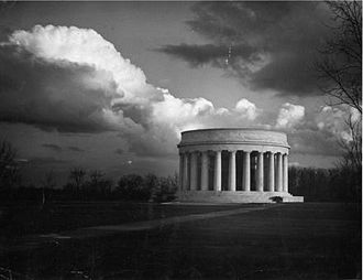 Florence Harding - The Harding Tomb in Marion, resting place of both Warren and Florence Harding. The white marble structure was the last of the elaborate presidential memorials.