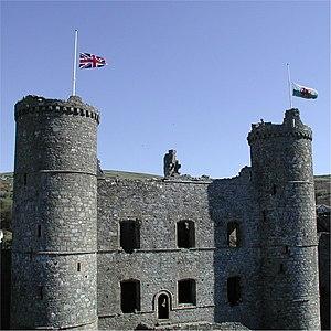 Harlech - Image: Harlech Castle Half Mast HMQM