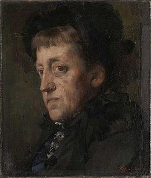 Kitty Lange Kielland - Portrait by Harriet Backer (1880)