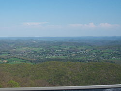 Harrogate, as viewed from Cumberland Gap