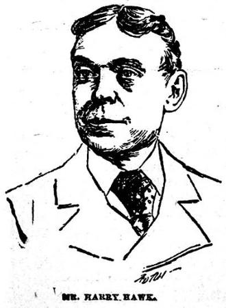Harry Hawk - Sketch of Hawk circa 1890s