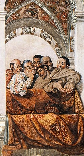 Tōhoku region - Vatican. Legation from Tōhoku. Luis Sotelo, speaking with Hasekura Tsunenaga