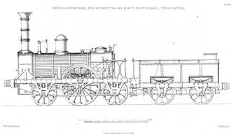 R and W Hawthorn - Image: Hawthorn locomotive and tender