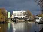 Heilbronn Neckar mit Friedrich-Ebert-Bruecke Inselhotel und Theaterschiff 20130612.jpg