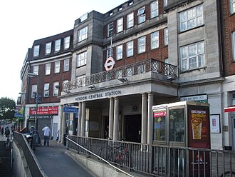 Hendon Central tube station - Station entrance