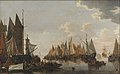 Hendrick de Meijer - Embarkation of Troops on a Dutch River - KMS1812 - Statens Museum for Kunst.jpg