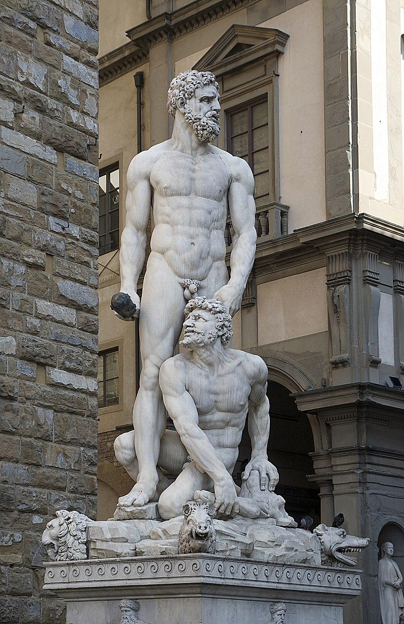 Cacus, dieu ou héros romain vaincu par Hercule 800px-Hercule_et_Cacus_Bandinelli_Florence_Signoria