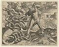 Hercules overwint de hydra van Lerna Werken van Hercules (serietitel), RP-P-1899-A-21761.jpg