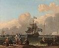 Het IJ voor Amsterdam met het fregat 'De Ploeg'. Rijksmuseum SK-C-91.jpeg