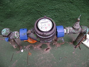 English: Water meter in Belo Horizonte Portugu...