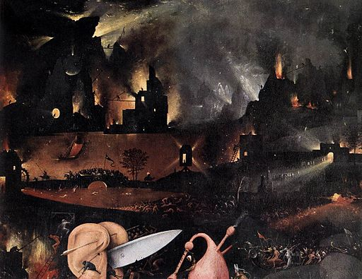 Hieronymus Bosch - Triptych of Garden of Earthly Delights (detail) - WGA2526