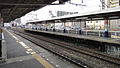 Higashi-Matsuyama Station north end platform extension 20120216.JPG