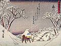 Hiroshige, A man on horseback in the snow.jpg