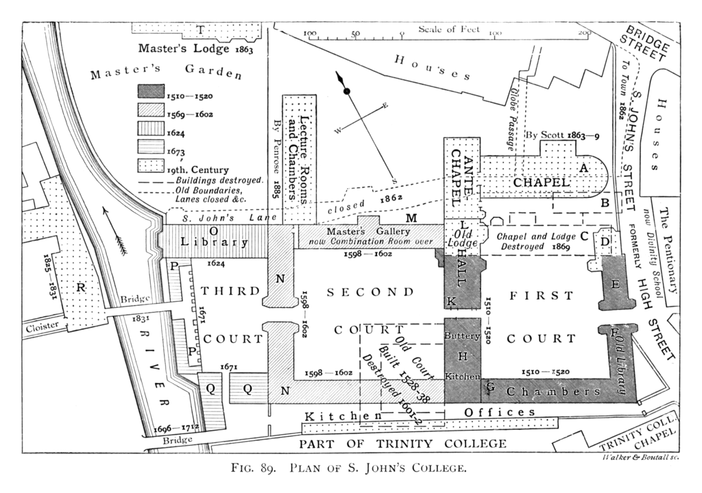 File Historical Plan Of St John S College Cambridge 1897