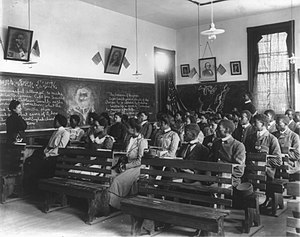 Booker T. Washington - A history class conducted at the Tuskegee Institute in 1902