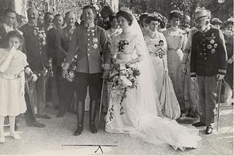 Charles I of Austria - The wedding of Zita and Charles, 21 October 1911.