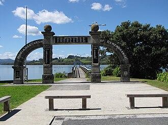 Kohukohu, New Zealand - Hokianga Arch of Remembrance at Kohukohu