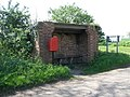 Honeydon bus shelter and post box - geograph.org.uk - 1284149.jpg