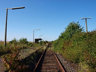 Friedberg–Mücke railway - The halt of Obbornhofen-Bellersheim on the section disused since 2003