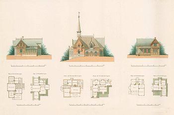 Forslag til byplaner og hustyper har oprettet af arkitekt Magnus Isæus i 1885.