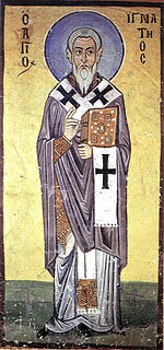 Ignatius of Antioch Early Catholic writer, Patriarch of Antioch and martyr saint