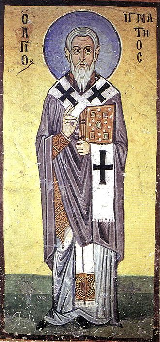 Ignatius of Antioch - Fresco of St. Ignatius from Hosios Loukas Monastery, Boeotia, Greece