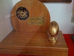1976 Houston Cougars football team - Houston's 1976 Southwest Conference championship trophy