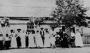 Clifton, Arizona - Image: Hoveys Dance Hall in Clifton Arizona 1884