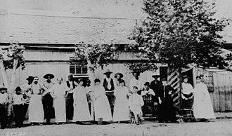 Clifton, Arizona - Image: Hoveys Dance Hall in Clifton Arizona 1884
