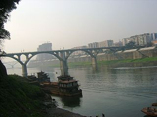 Fu River (Sichuan) tributary of Jialing river in Sichuan and Chongqing, China