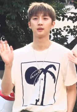Hui going to a Music Bank recording on July 22, 2018.png