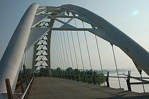 Humber Bay Arch Bridge - Bridge from one portal