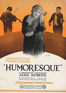 <i>Humoresque</i> (1920 film) 1920 film by Frank Borzage