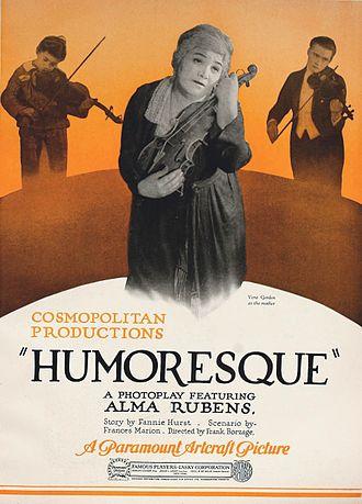 Humoresque (1920 film) - Image: Humoresque (1920) Ad 2