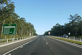 Hunter Expressway - Westbound after the Newcastle Interchange